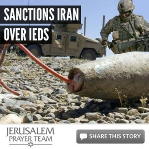Sanctions Iran over IED's - Mike Evans - Jerusalem Prayer Team